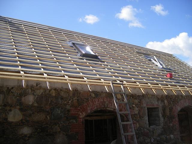 Katuse ehitustööd